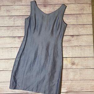 Dana Buchman Periwinkle Sleeveless Sheath Dress 10